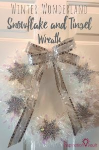 Winter Wonderland Snowflake and Tinsel Wreath