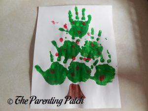 Christmas Tree Handprint-Fingerprint Craft