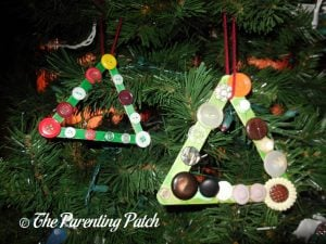 Christmas Tree Popsicle Stick Ornament Craft
