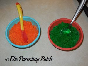 Orange and Green Colored Sugar