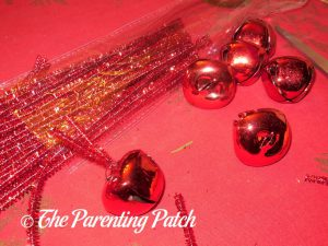 Jingle Bells for Deco Mesh, Ribbon, and Mesh Tube Candy Cane Christmas Wreath Craft