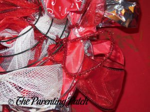 Hanger for Deco Mesh, Ribbon, and Mesh Tube Candy Cane Christmas Wreath Craft