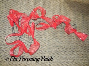 Red Ribbon for Deco Mesh, Ribbon, and Mesh Tube Candy Cane Christmas Wreath Craft