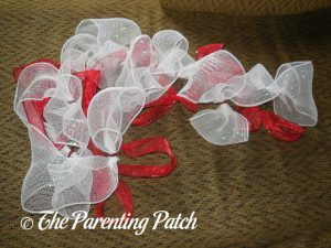 White Deco Mesh for Deco Mesh, Ribbon, and Mesh Tube Candy Cane Christmas Wreath Craft