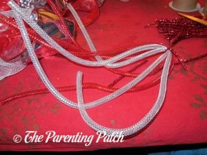 Mesh Tube for Deco Mesh, Ribbon, and Mesh Tube Candy Cane Christmas Wreath Craft