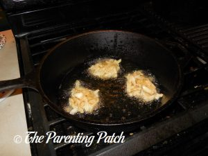Frying the Gluten-Free Potato Pancakes