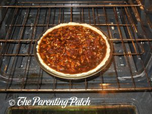 Baking the Chocolate Pecan Pie
