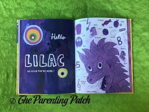 Inside Pages of 'Hello Lilac - Good Morning, Yellow: Colors and First Words' 3
