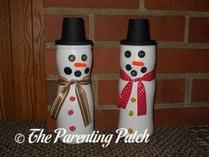 Puff Container Snowman Craft