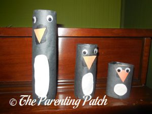 Paper Tube Penguins Craft