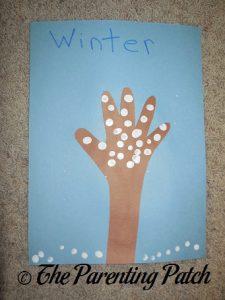 Four Seasons Handprint Trees Craft