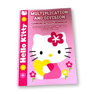 Hello Kitty Multiplication and Division Math Learning Activity Workbook by Bendon