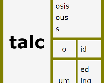 Word Matrix: Talc