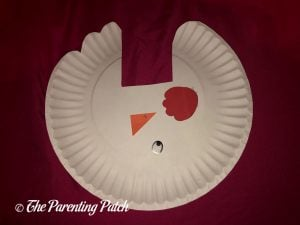 Materials for C Is for Chicken Paper Plate Craft
