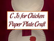 C Is for Chicken Paper Plate Craft