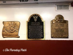 Plaques in the USS Midway Museum