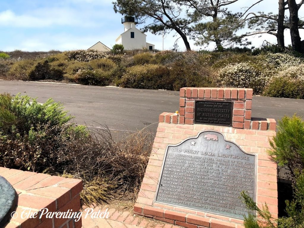 Old Point Loma Lighthouse Plaque at Cabrillo National Monument