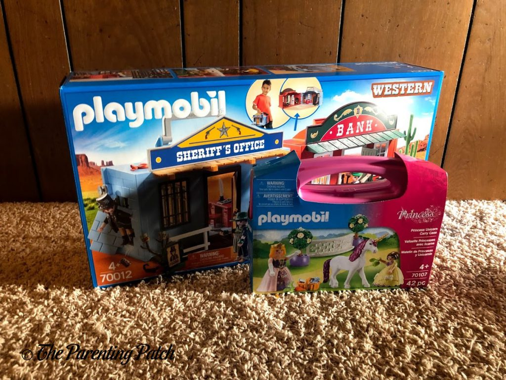 PLAYMOBIL Take Along Western City and Princess Unicorn Carry Case