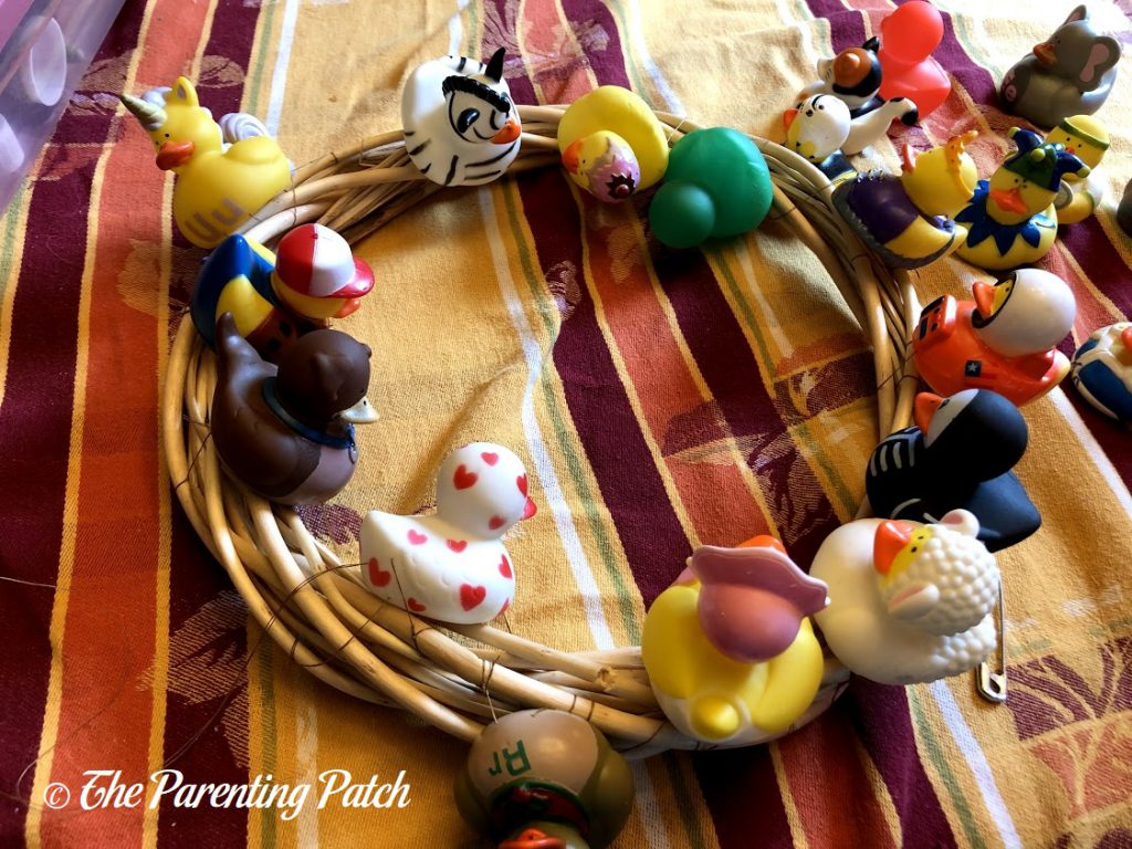 Sewing More Ducks to the Wreath