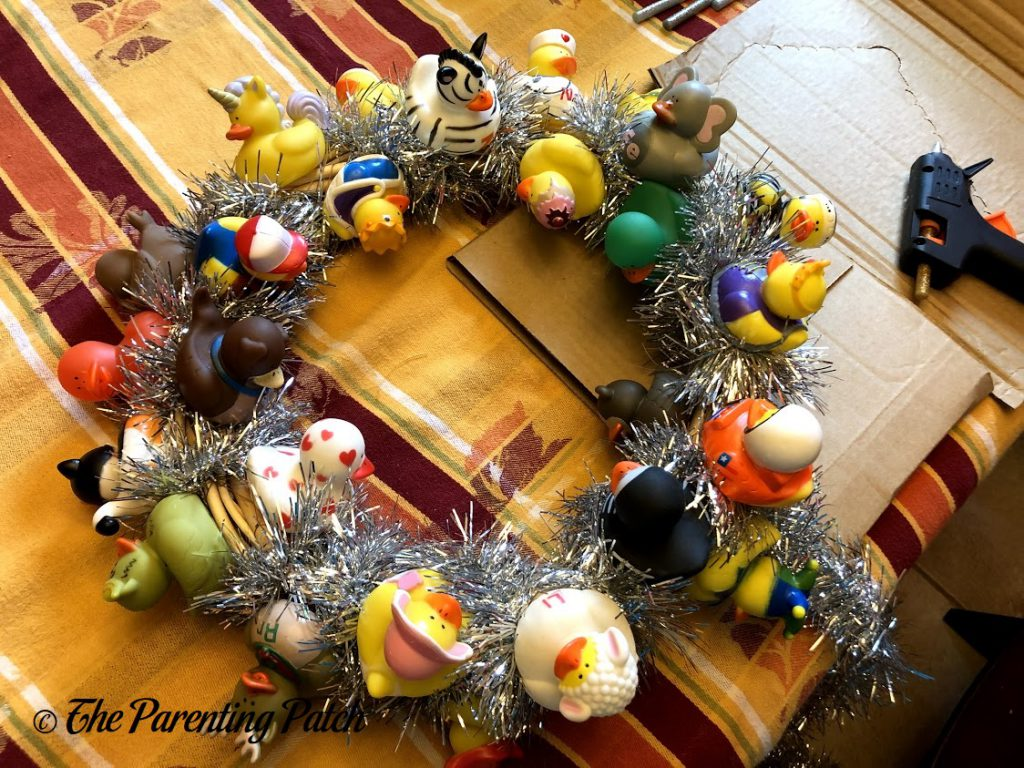 Weaving the Garland Around the Wreath