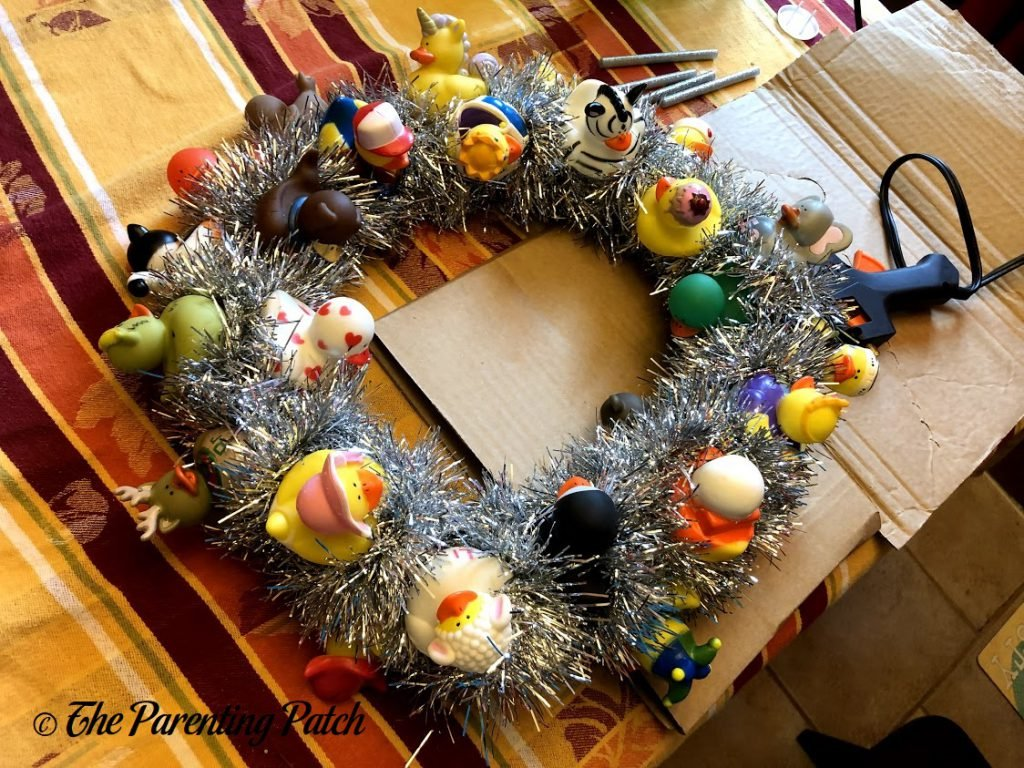 Finished Back-to-School Duck-oration Wreath