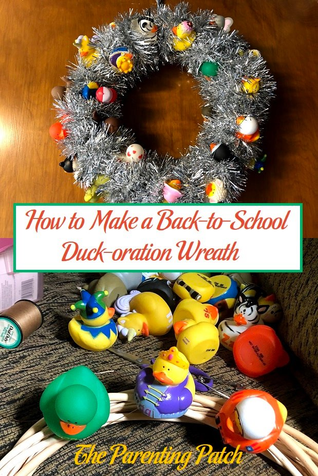 How to Make a Back-to-School Duck-oration Wreath