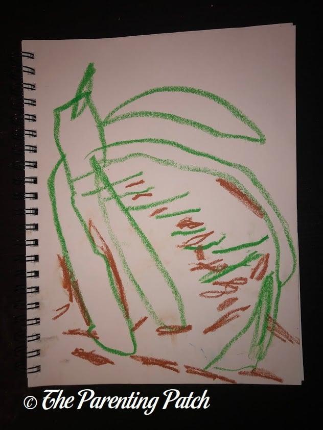 Fauvist Drawing by Preschooler 3