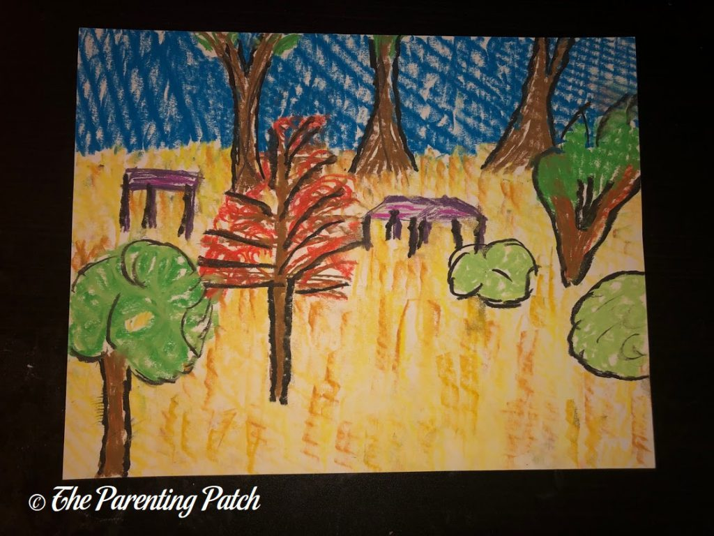 Fauvist Drawing by Adult 1