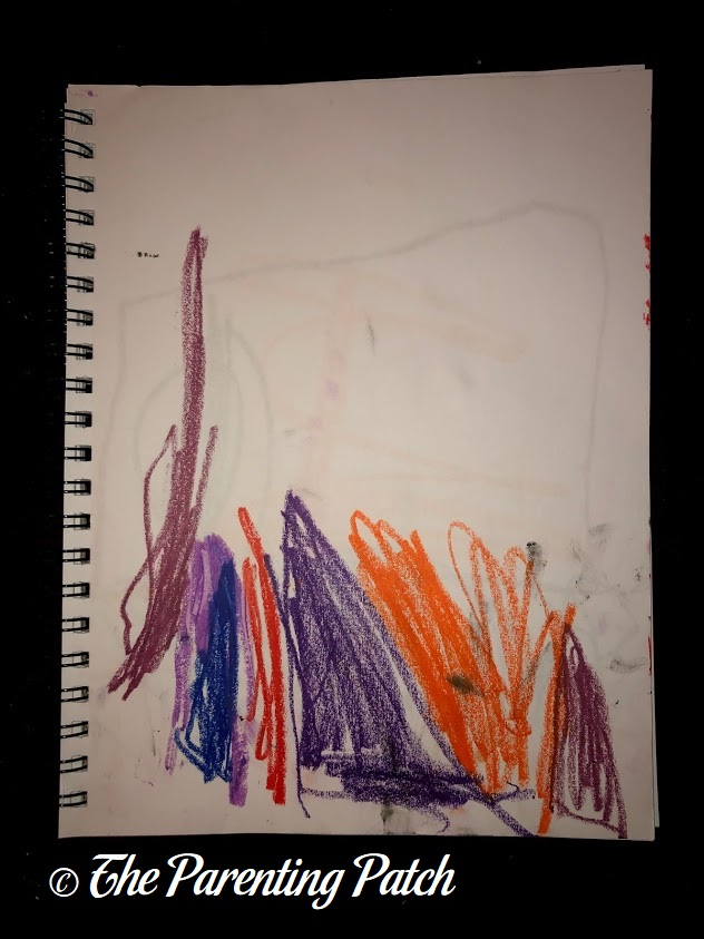 Fauvist Drawing by Preschooler 1