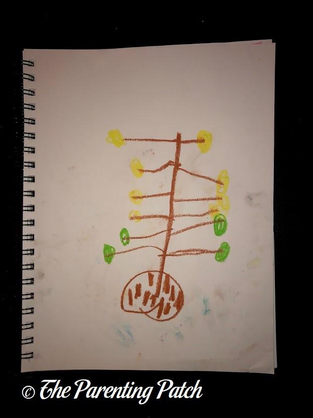 Fauvist Drawing by Preschooler 2