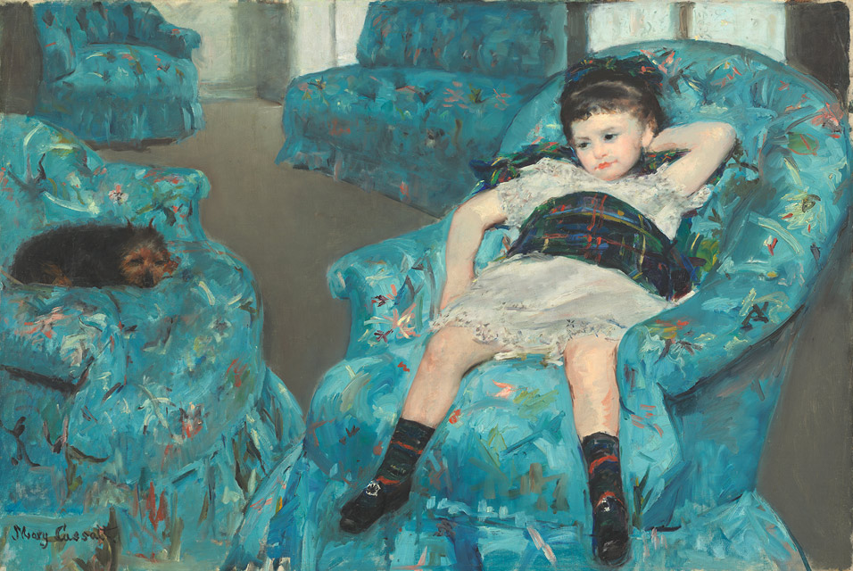 Little Girl in Blue Armchair by Mary Stevenson Cassatt