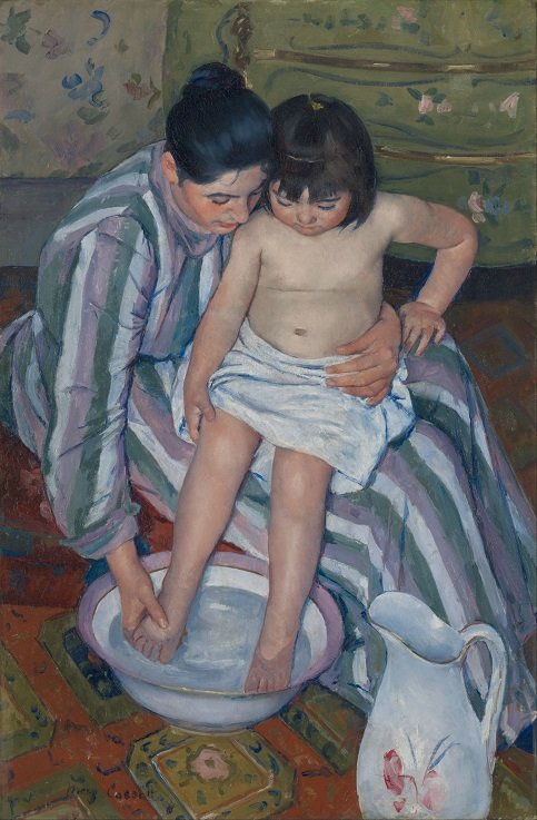 The Child's Bath by Mary Stevenson Cassatt