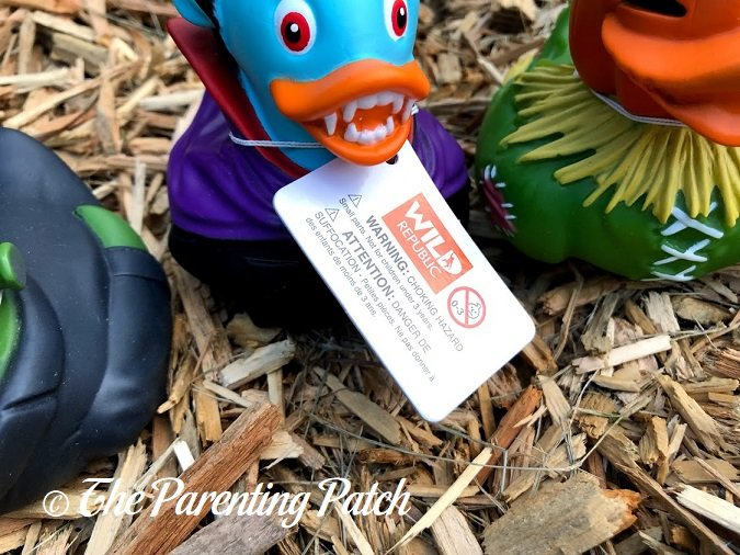 Tag of Wild Republic Halloween Rubber Duck