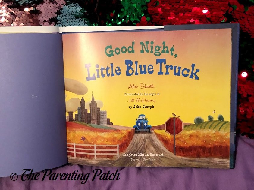Inside Pages of 'Good Night, Little Blue Truck' 1