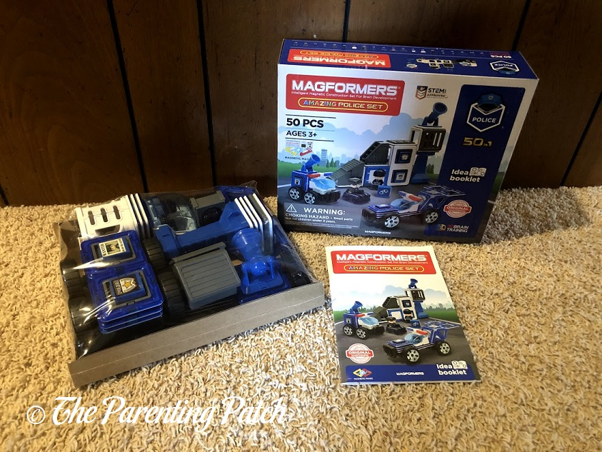 Opening the Magformers AMAZING Police Set