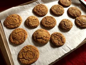 Baked Chewy Ginger Cookies