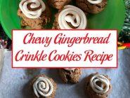 Chewy Gingerbread Crinkle Cookies Recipe