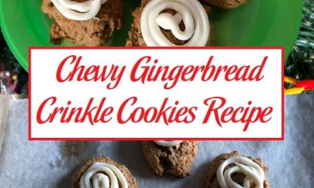 Chewy Gingerbread Crinkle Cookies Recipe