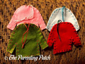 Undecorated Ugly Christmas Sweater Felt Ornaments