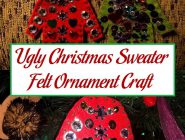 Ugly Christmas Sweater Felt Ornament Craft