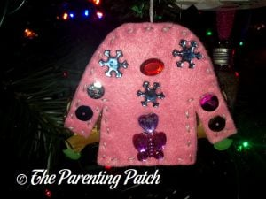 Pink Ugly Christmas Sweater Felt Ornament