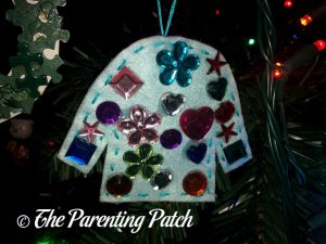 Blue Ugly Christmas Sweater Felt Ornament