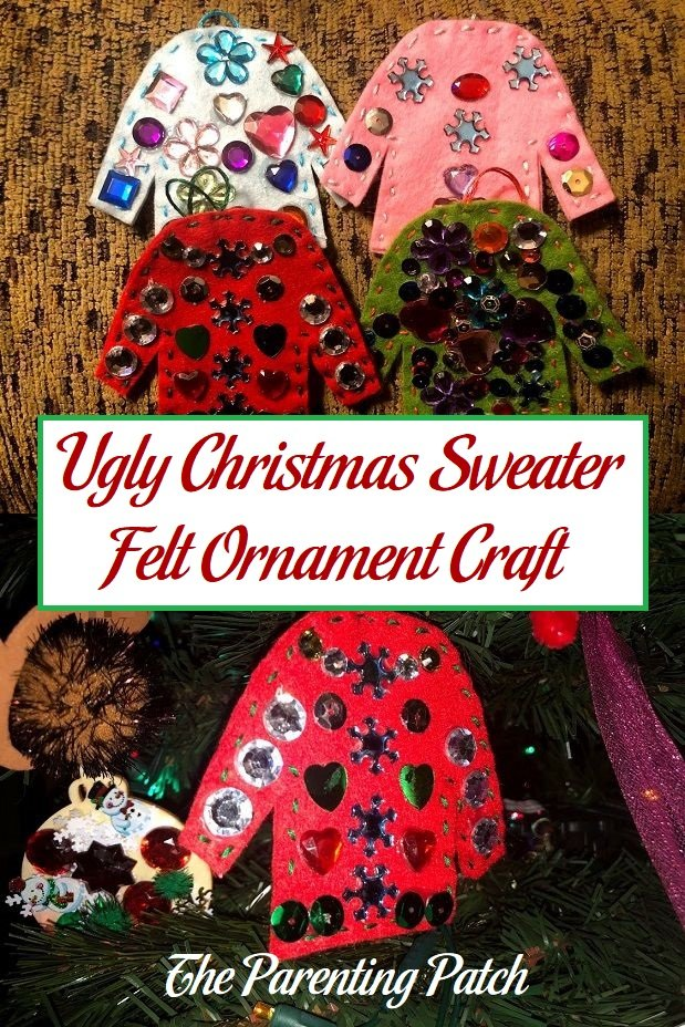 Ugly Christmas Sweater Felt Ornament Craft