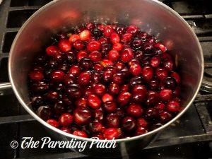 Cranberries in Sugar Water for Sugared Cranberries