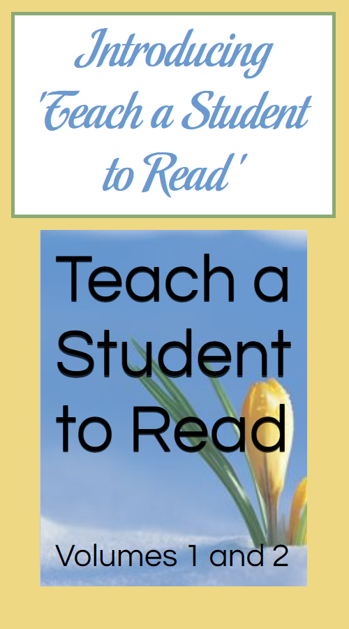 Introducing 'Teach a Student to Read'