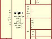 Word Matrix Sign