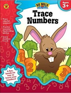 Carson Dellosa Trace Numbers Workbook for Preschool-Kindergarten