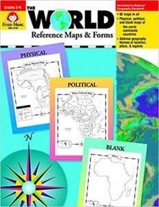 Evan-Moor The World Reference Maps & Forms Book