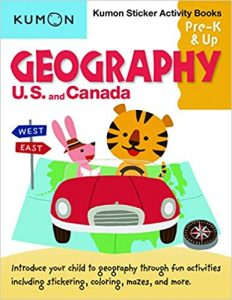 Geography: US and Canada Sticker Activity Book