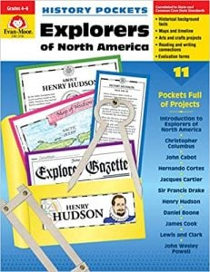 History Pockets: Explorers of North America Grades 4-6